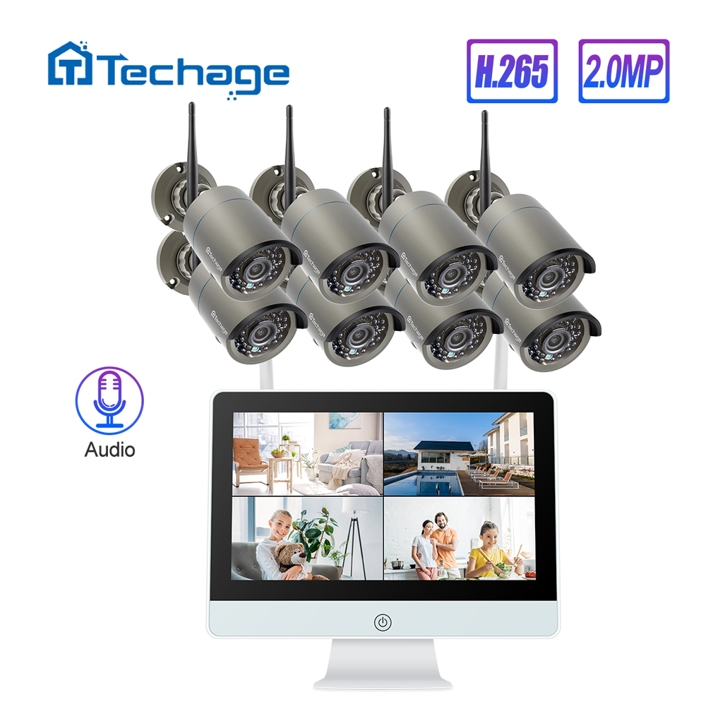 Techage 8CH 1080P Wireless Security System 12