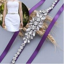 Topqueen s166 женские Стразы ремень серебра бриллиантов свадебные