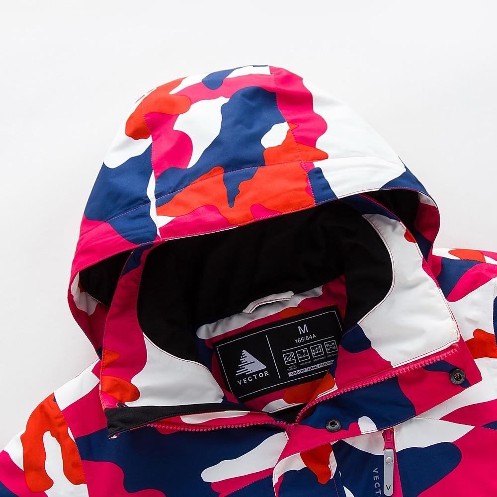 VECTOR marque Ski costume femmes chaud imperméable Ski costumes ensemble dames en plein air Sport hiver manteaux Snowboard neige vestes et pantalons - 2