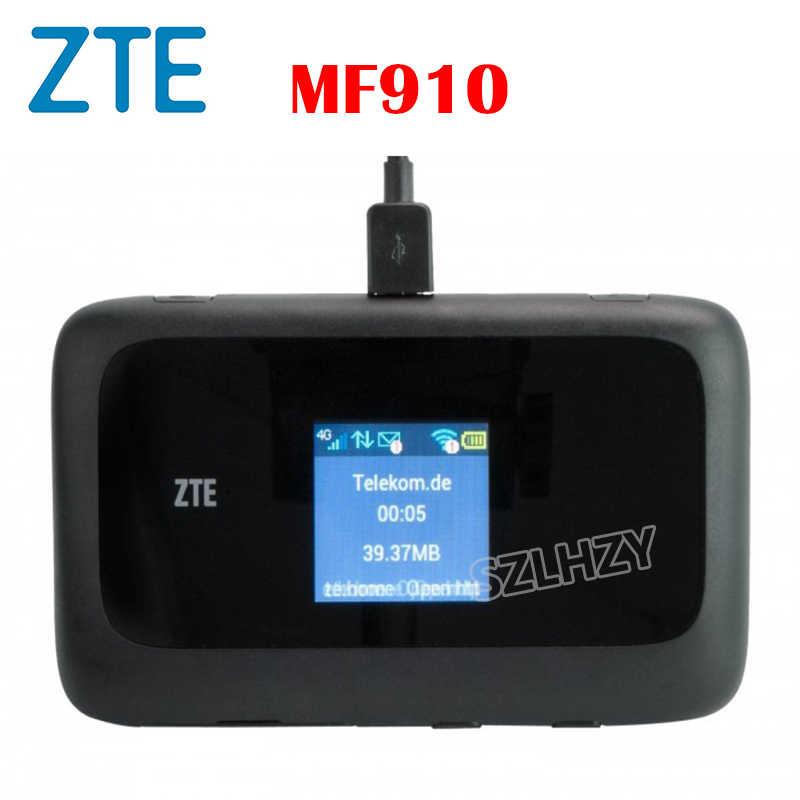 Router 4G usado ZTE desbloqueado MF910 MF90 Hotspot móvil Wifi + 2 uds antena ranura para tarjeta SIM batería de 2300mAh PK huawei E5573