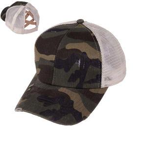 Hat Ponytail Baseball-Cap Summer Trucker-Caps Cotton Bun Mesh Hip-Hop-Hats Messy Adjustable