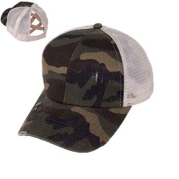 2020 Breathable Cotton Ponytail Baseball Cap Hat Mesh Trucker Caps Messy Bun Summer Hat Female Adjustable Hip Hop Hats