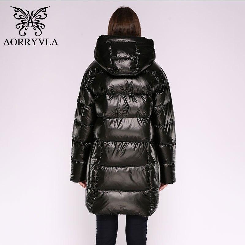 Image 2 - AORRYVLA 2019 Winter Womens Fashion Jacket Long Women Down  Jacket Thick Warm Hooded Coat Female Parka Winter Jacket CasualParkas