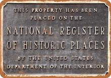 Anjoes 8x12 sinal de metal registro nacional lugares históricos decoração da parede do vintage arte retro