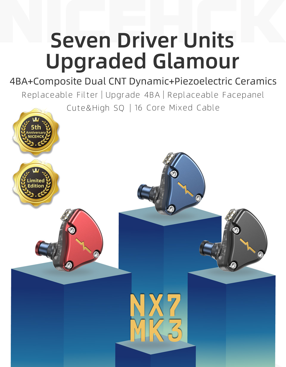 Nicehck nx7 mk3 7 unidades de motorista
