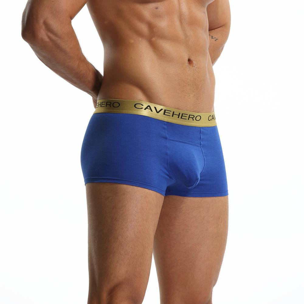 Front Big Penis Modal Men Boxers Underwear Modal Male Panties With Role Inside