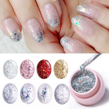 UR ZUCCHERO Glitter UV Del Gel Del Chiodo Brillante Platino Gel Per Unghie Semi Permanente Hybrid Smalto per Unghie Soak Off Gel UV lacquere Led(China)