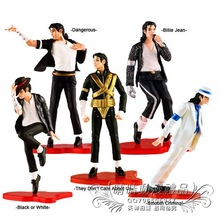 5pcs Michael Jackson Moonwalk PVC Action Figure SHF S.H.Figuarts King of POP MJ Collectible Model Toy For Children Gifts
