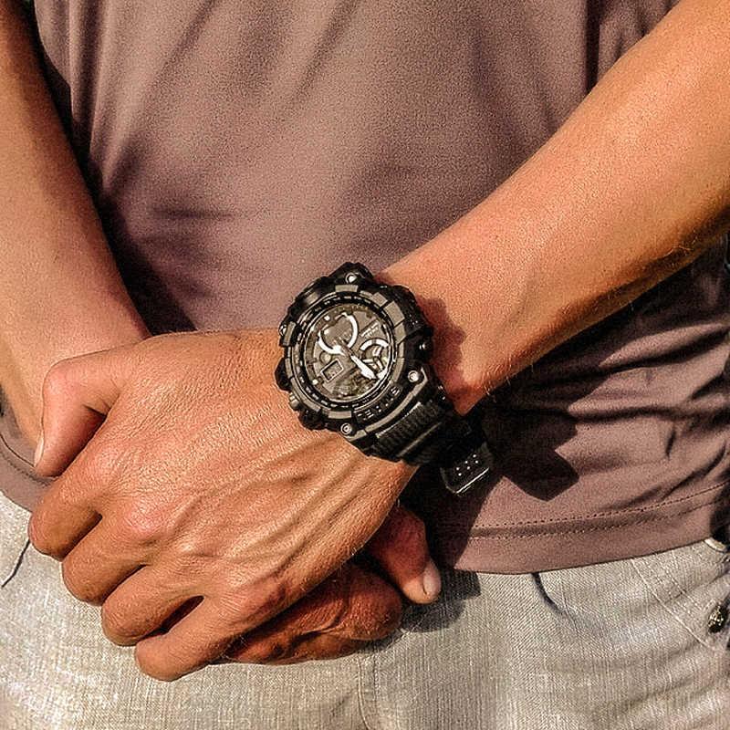 Armée montres marque numérique rétro-éclairage Relogio Masculino montre hommes militaire montre LED 1545C militaire montre hommes étanche