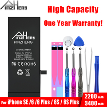 Get more info on the PINZHENG High Capaciy Battery For iPhone SE 6 Plus 6S Plus Replacement Original Bateria  For iPhone 6Plus 6sPlus SE Batteries