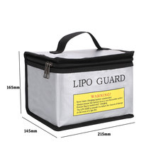 LiPo Battery Portable Fireproof Safety Bag Lipo Guard Explosion Proof Fire Resistant Charging Sack Battery Safe Bag For Battey