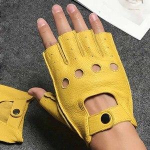 Image 1 - Men Gloves Fingerless Leather Gloves Gym Driver Tactical Military Fitness Motorcycle Half Finger Gloves Black Male Non Slip