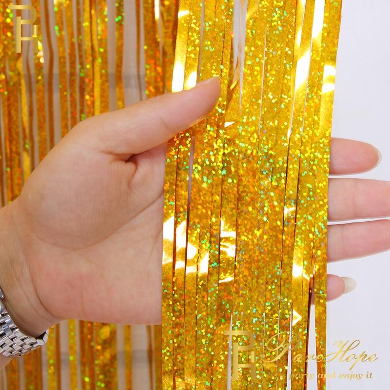 День рождения свадьба фон занавеска s блестящая золотая мишура фольга занавеска девичник украшение для вечеринки фото стенда настенные зан...