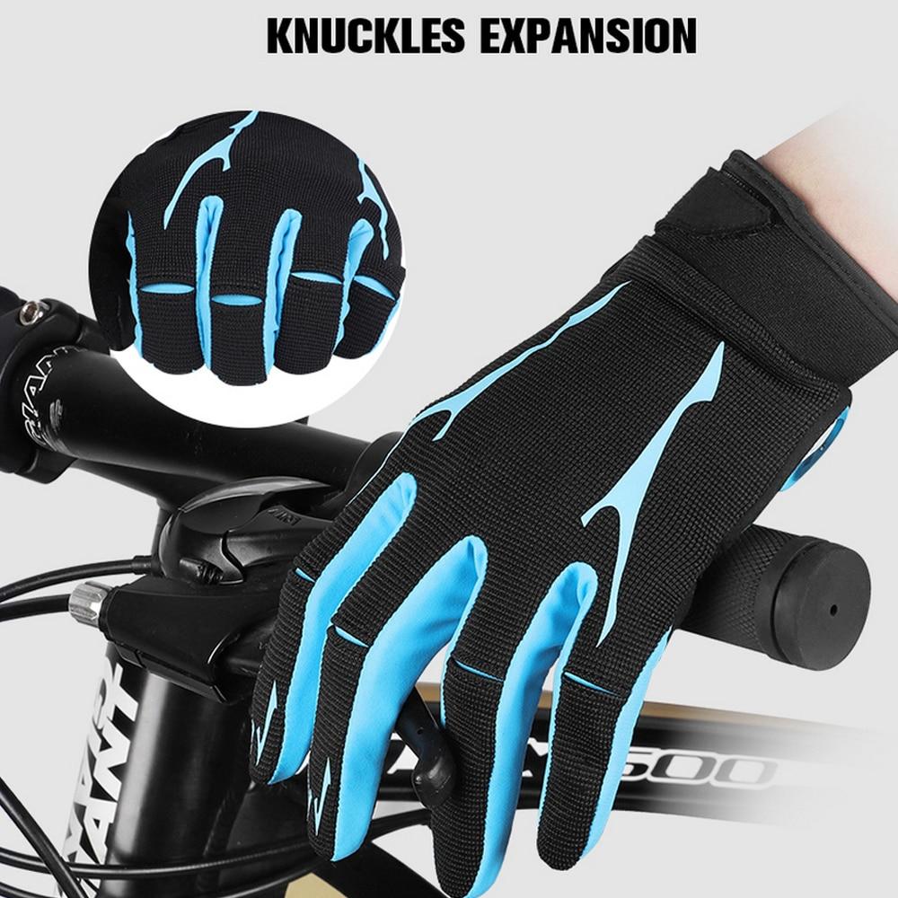 Ветрозащитные велосипедные перчатки с сенсорным экраном для