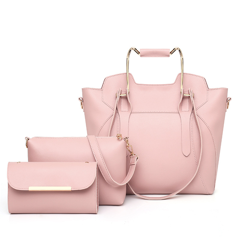 WOMEN'S Bag 2018 New Style Fashion Korean-style Shoulder Simple Picture Handbag Three-piece Set thumbnail