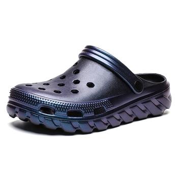 メンズcrosskスリッパ靴サンダル新通気性ビーチホーム中空アウトカジュアル屋外防水フラットワニ