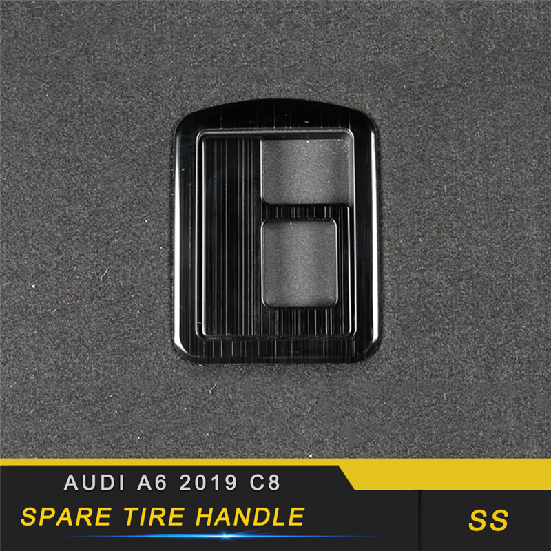 For <font><b>Audi</b></font> <font><b>A6</b></font> C8 <font><b>2019</b></font> Car Styling Trunk Spare Tire Handle Panel Bowl Cover Trim Frame Sticker Interior Accessories image