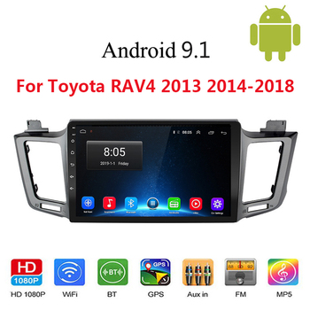 For Toyota RAV4 RAV 4 2013 2014-2018 Android 9.1 Car GPS Radio Stereo WIFI Free MAP Quad Core 2 din Car Multimedia Video Player image