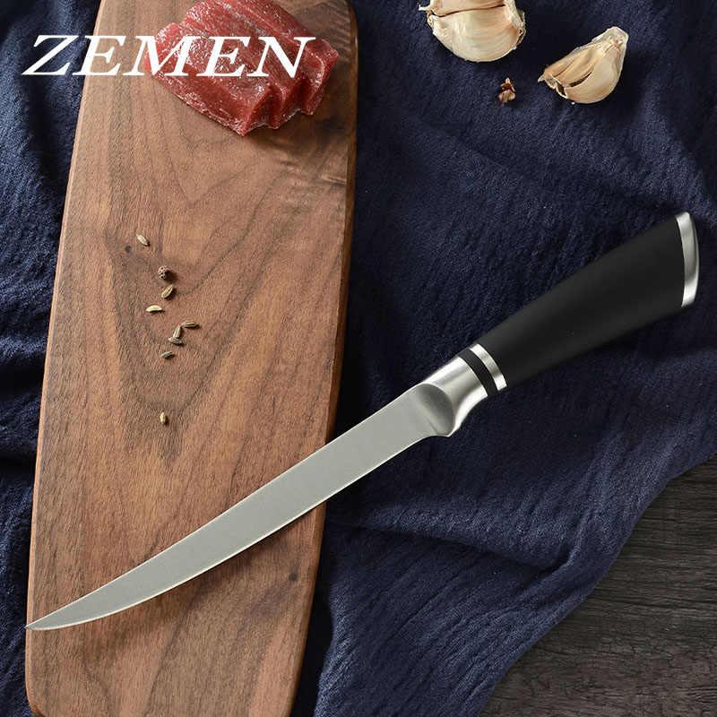 ZEMEN Fish Cleaver nóż kuchenny filet Osteotome noże do odkostniania wysokowęglowa stal nierdzewna akcesoria do gotowania szefa kuchni Cleaver