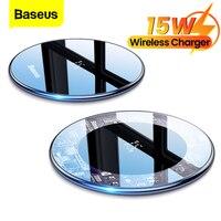 Baseus 15W Qi caricabatterie Wireless induzione Pad di ricarica Wireless veloce per iPhone 13 12 Pro Max Xs caricabatterie per telefono per Samsung Xiaomi