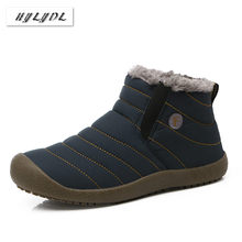 Boots Winter Shoes Men Warm Fur Snow Boots Waterproof Super Quality Boots Womens Cotton Shoes Female High Top Ankle Boots Botas(China)