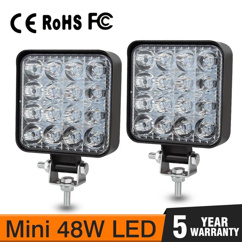 OKEEN 3.3 inch/8.5 cm 48W LED barre lumineuse de travail Mini 16LED 12V 24V pour tout-terrain camion tracteur remorque 4x4 LED SUV éclairage extérieur