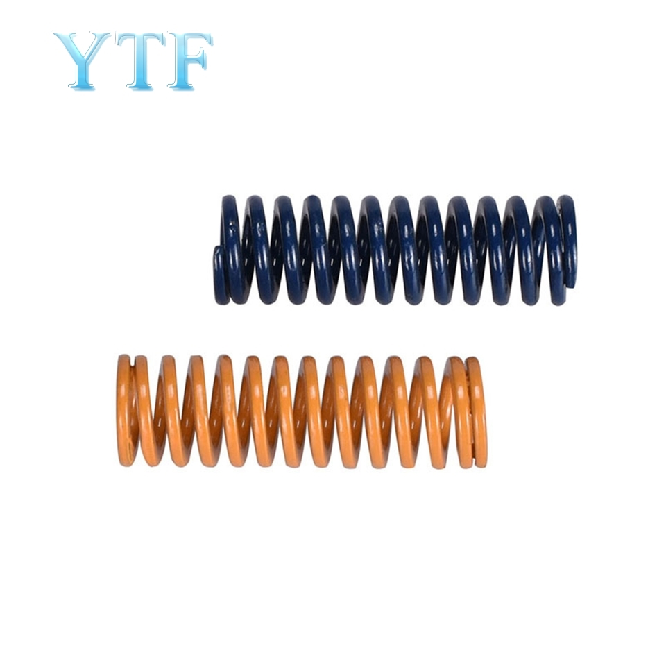 10pcs Yellow 3D Printer Heated Bed Leveling Spring Ugprade For CR-10 Printer Hotbed Parts