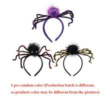 1PC Halloween Headdress Spider Head Buckle Headband Decorative Props Children Accessories for Hair Baby Girls Lovely Headwear