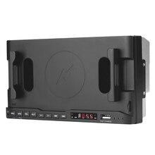 راديو السيارة بلوتوث مشغل MP3 حامل هاتف 15 واط لاسلكي USB شاحن سريع AM FM راديو السيارات ستيريو رئيس التحكم عن iOS أندرويد