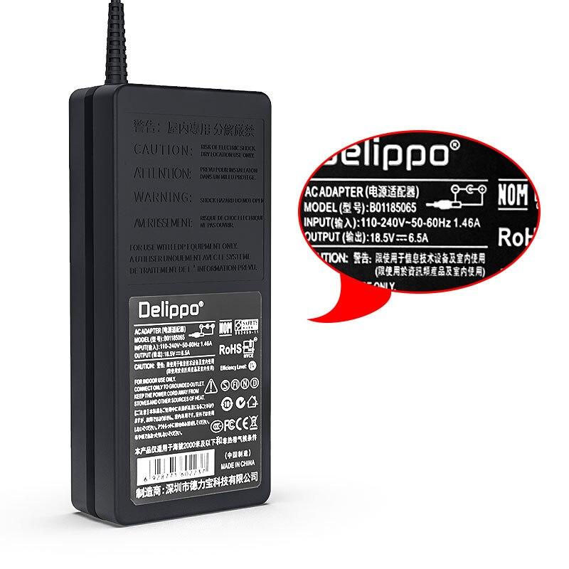120W 18,5 V 6.5A Сетевой адаптер питания для ноутбука Зарядное устройство Питание для hp павильон DV6 DV7 DV8 TC4400 NX6320 NX7400 NX8410 NX9420 Delippo