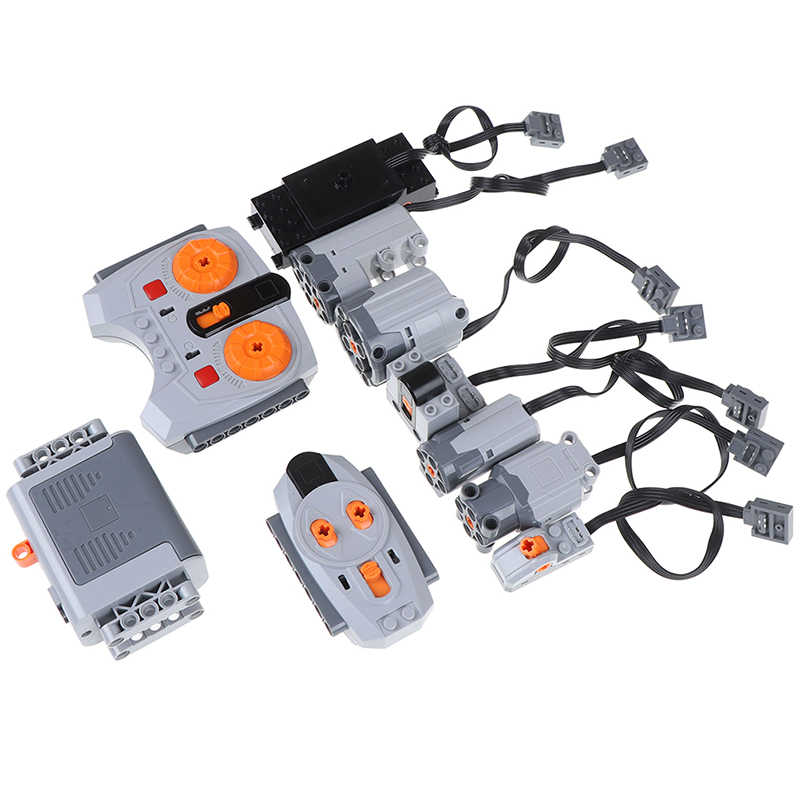 1 stücke Technic Teile Zug Elektrische Motor Modell Setzt Gebäude Kits Kompatibel Für Legoeds Multi Power Funktionen Werkzeug Servo Blöcke