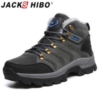 Jackshibo Winter Outdoor hiking shoes For Men Climbing Mountaineer Sneakers Men's Non slip Camping Shoes Upstream Tactical Shoes