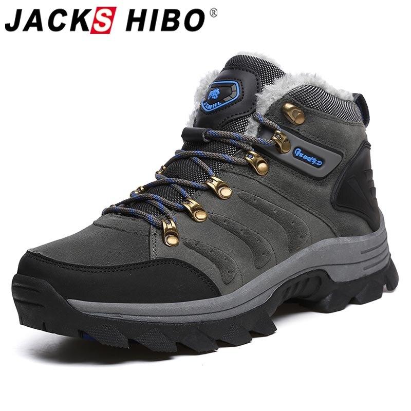 Jackshibo Winter Outdoor wandern schuhe Für Männer Klettern Mountaineer Turnschuhe Männer rutsch Camping Schuhe Upstream Taktische Schuhe