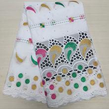 2.5 metros swiss tecido de renda dubai 2021 alta qualidade 100% algodão bordado swiss voile renda na suíça para o vestido