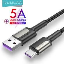 KUULAA 5A USB Typ C Kabel für Huawei Mate 20 Pro P20 Lite Aufzurüsten USB C Schnelle Lade Kabel Typ-C Kabel für Xiaomi mi 10t