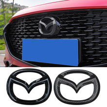 Mazda 3 Axela 6 Atenza CX4 CX5 Carbon Fiber Front Badge Decal Kofferbak Sticker Kofferbak Embleem Sticker Buitenkant accessoires