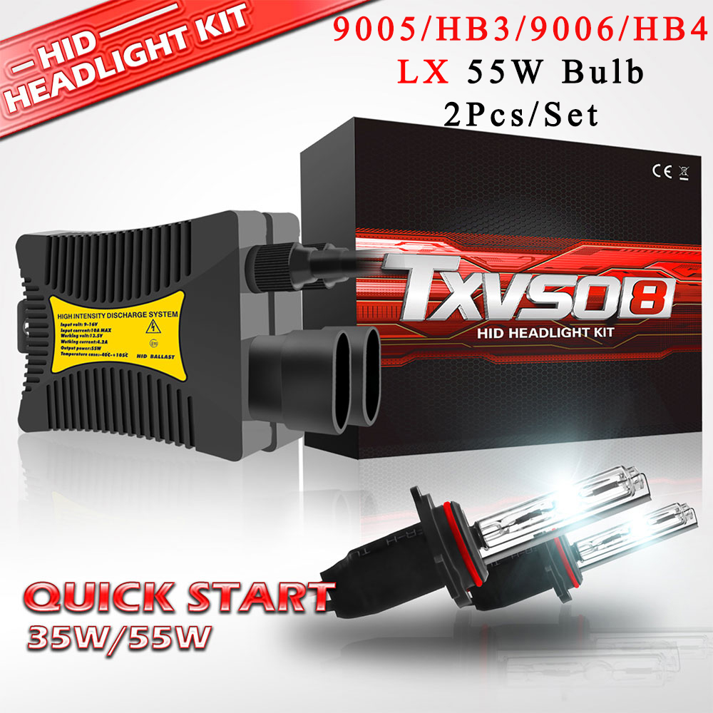 US HID Kit 9006 HB4 35W 5500K High Low Beam Headlamp With Digital Canbus Ballast