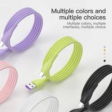 Жидкий силиконовый кабель для передачи данных iphone 11 pro