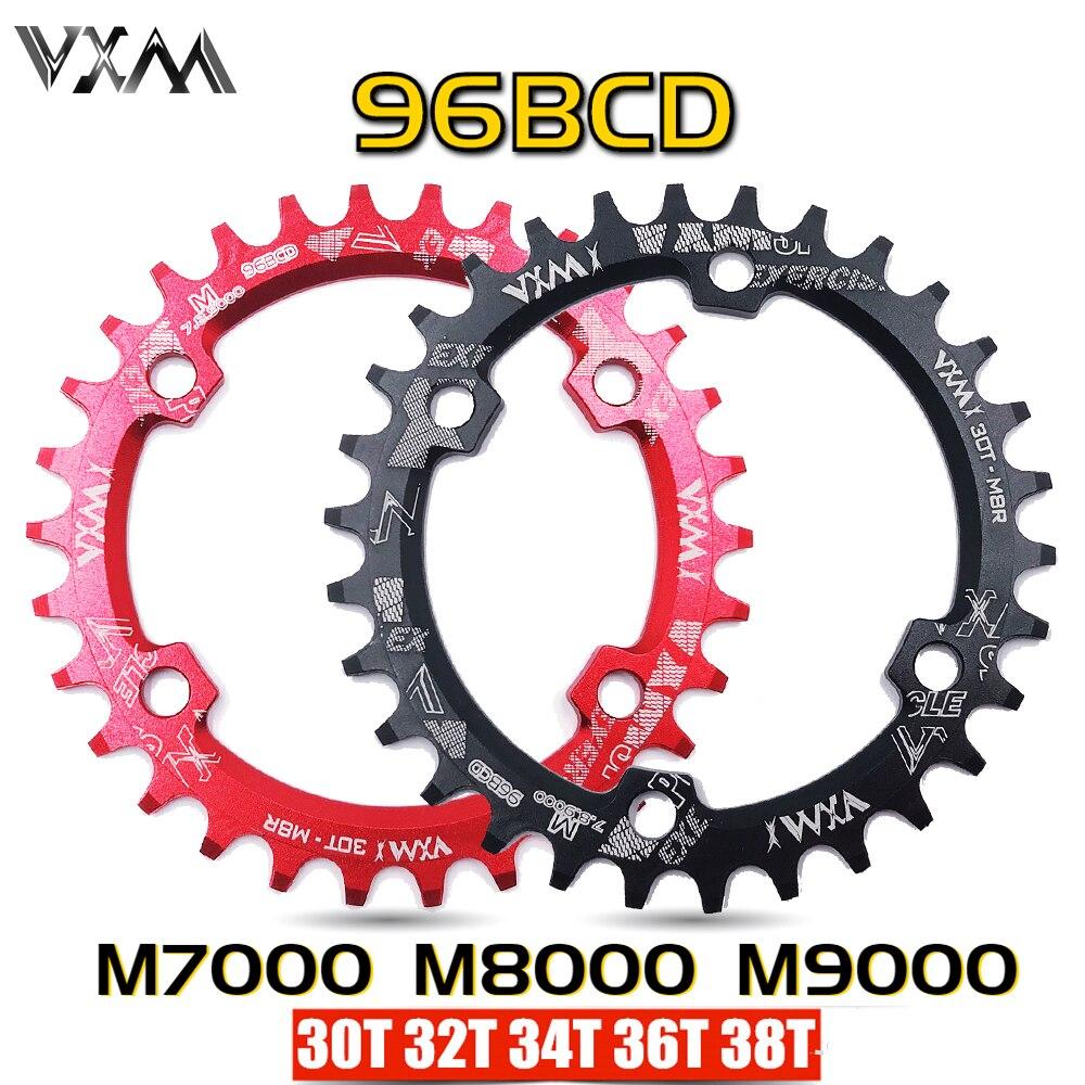 DECKAS MTB Bike 96BCD 32//34//36//38T Narrow Wide Round Oval Chainring Crankset