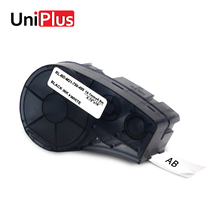 UniPlus High Adhesion Cloth Label Tape M21-750-499 Black on White Nylon Compatible for Brady IDPal LABPAL BMP21 Plus Print