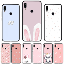 Cartoon animal rabbit pink TPU Soft Silicone Phone Case Cover For Xiaomi Redmi Note 4 4x 5 6 7 8 pro S2 PLUS 6A PRO(China)