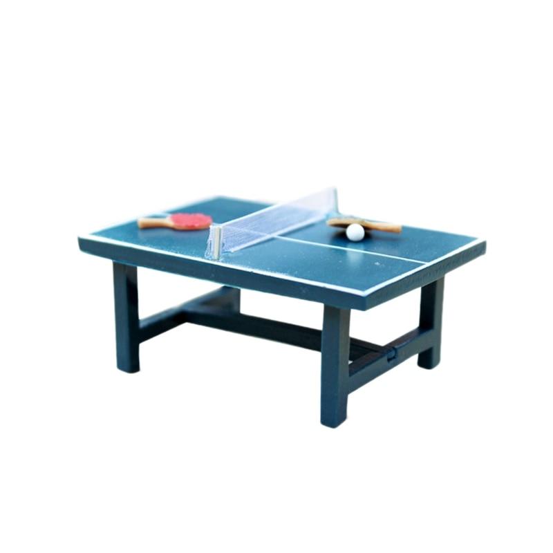 1/12 Dollhouse Miniature Simulation Decor Accessories DIY Mini Table Tennis Kids Funny Toy