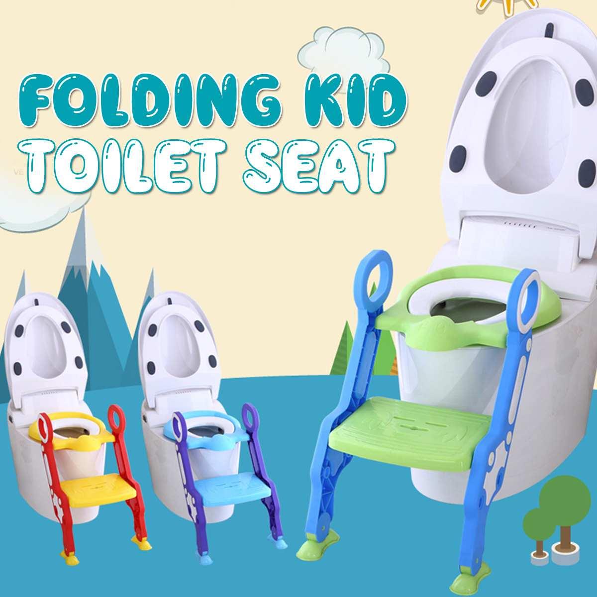 Baby Potty Training Seat Child Potty Toilet Baby Toilet Seat With Adjustable Ladder Infant Toilet Training Folding Seat