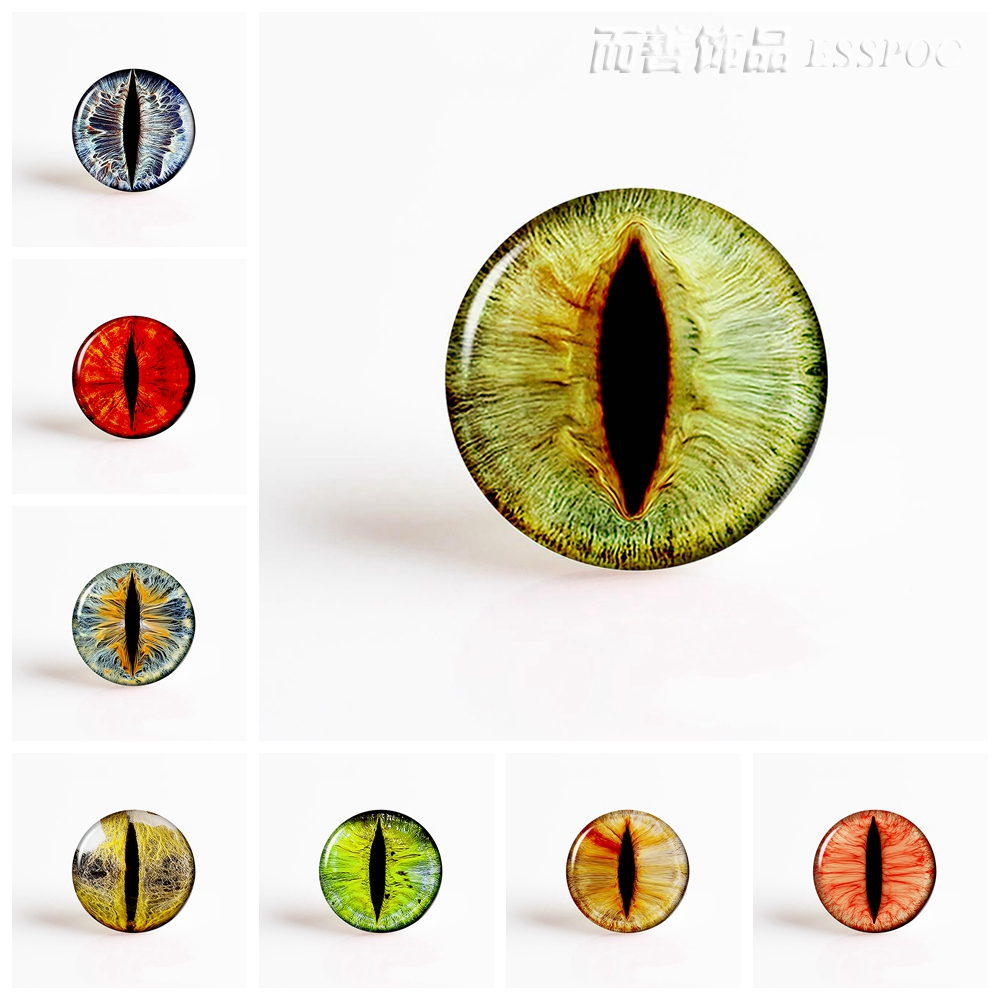5Pcs/lot Dragon Eyes Glass Cabochon 25MM DIY Pendant Jewelry Supply Cabochon Base Jewelry Findings Craft Supplies