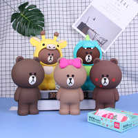 3D Cartoon Pencil Case With Zipper For Kids Stationery School Office Supplies Pencil Box Silicone Bag For Pen Pencil Pouch