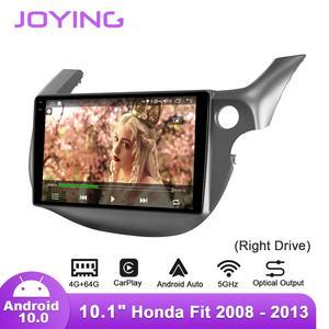 Image 5 - Joying 10.1 אינץ Android10 רכב רדיו עבור הונדה Fit/ג אז 2008 2013 ימין כונן GPS DSP SPDIF סאב carplay 5 3GWIFI Topslink DAB