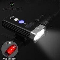 ROCKBROS 1800LM دراجة الدراجات ضوء المصباح USB قابلة للشحن الدراجة المقود الجبهة ضوء 5200mAh قوة البنك IPX6 مقاوم للماء