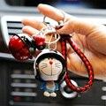 Милый мультяшный японский брелок Doraemon, фигурка, ручная ножка, подвижный цветной шлем, колокольчик, игрушки для детей, рождественские подарк...