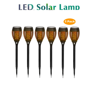 2-8pcs Solar Light Upgraded Flickering Flames Torches Lights Outdoor Solar Landscape Torch Light for Patio image