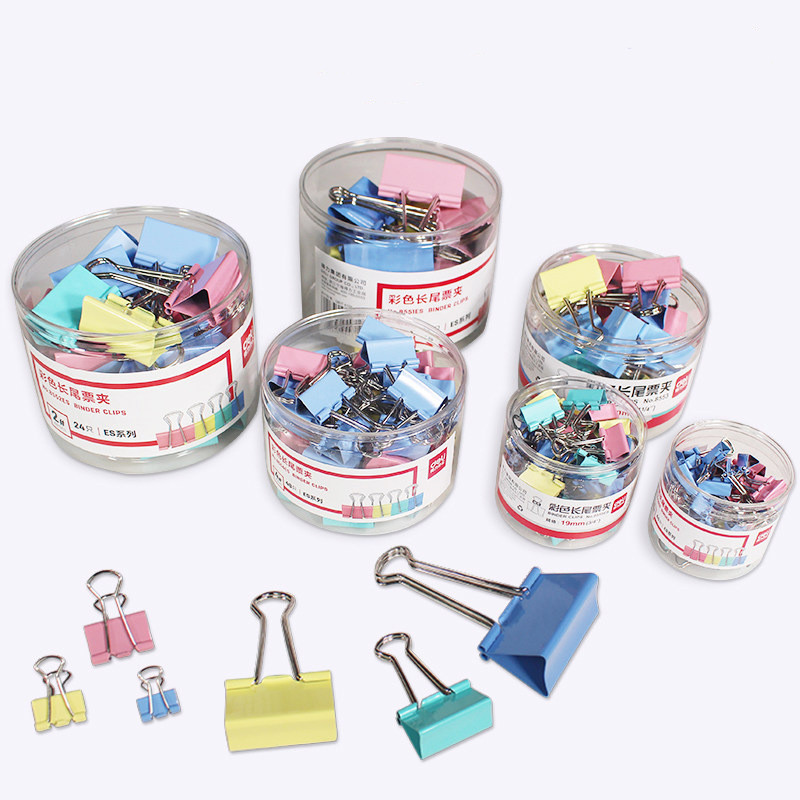 5pcs / Metal Paper Clip 31mm Color Candy Color Paper Clip, Used For Books, Stationery, High Quality School Office Supplies